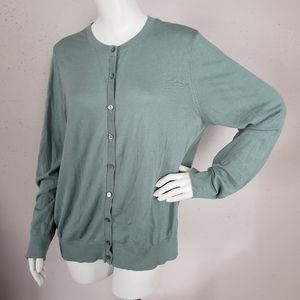 Loft Outlet Sweater Women Size XL Green Teal